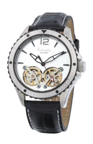 Silberne EichmÜller Automatikuhr 7861 Herrenuhr Business Uhr Doppelte Unruh Bild