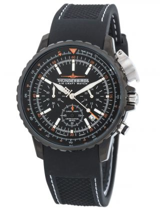 Thunderbirds Fliegeruhr 1078 Chronograph Falcon Watch Herrenuhr Vd 53 Quarz Bild