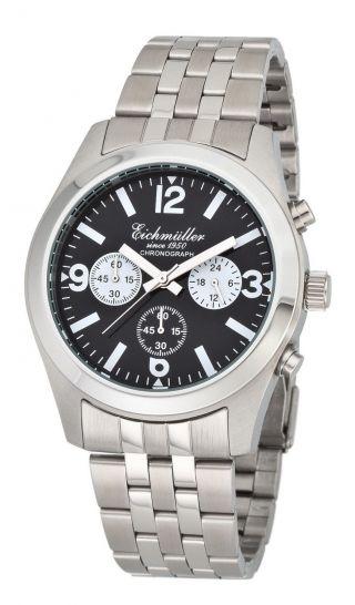 EichmÜller Edelstahl Chronograph Herrenuhr Seiko Vd 54 Armbanduhr &ovp Bild