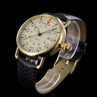 Schöne Armbanduhr Retro Unisex Uhr Animoo Herrenuhr Damenuhr Leder Datum Mit Box Bild