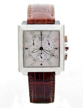 Osco Swiss Chronograph 02992001 Herrenuhr Edelstahl Watch Eta Uhrwerk 5 Atm Bild