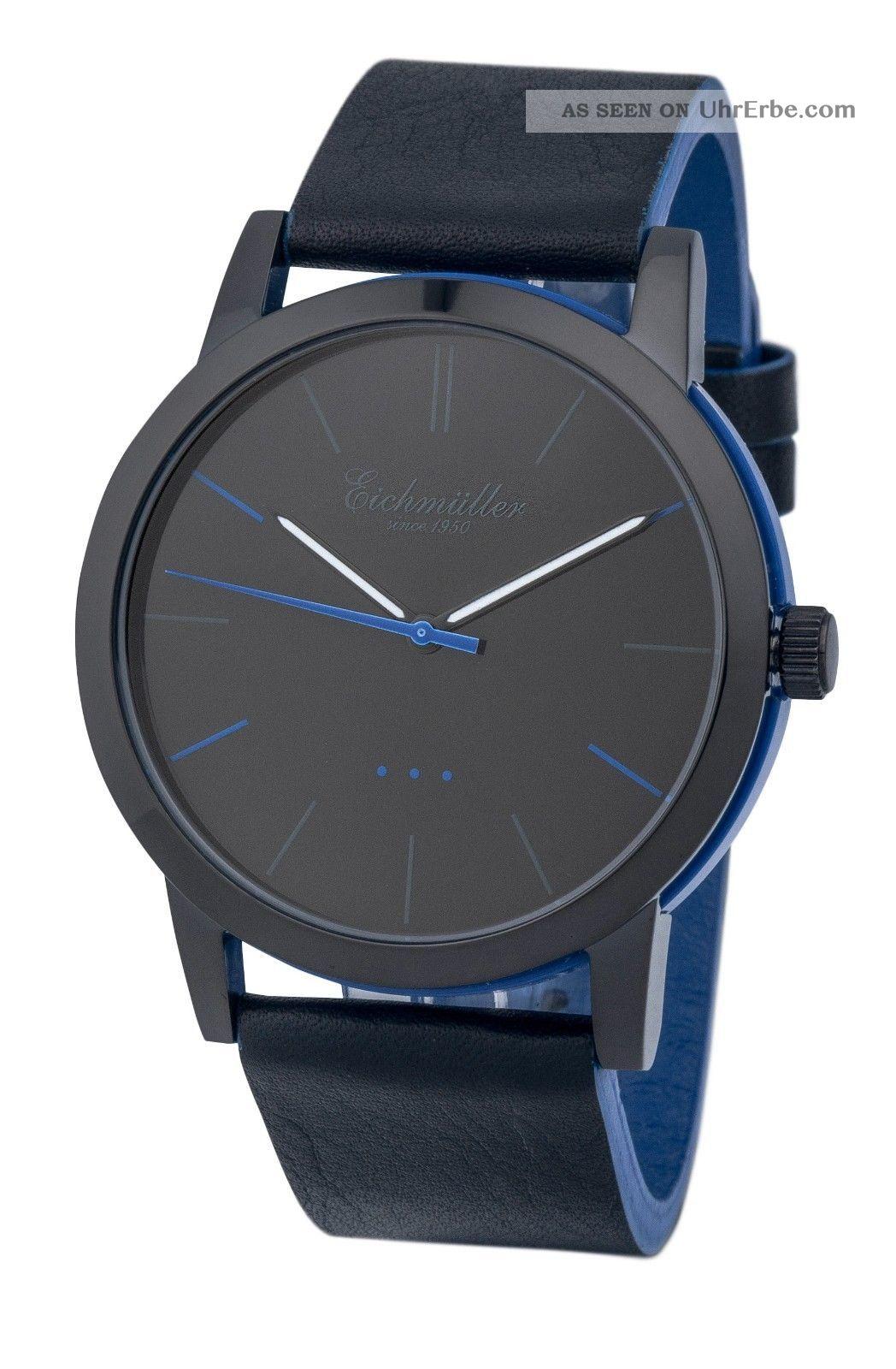 Modische EichmÜller 2 - Farben Design Uhr 4004 Herrenuhr Damenuhr Watch,  Blau Armbanduhren Bild