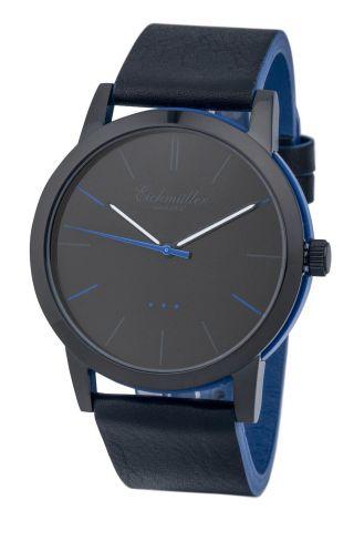 Modische EichmÜller 2 - Farben Design Uhr 4004 Herrenuhr Damenuhr Watch,  Blau Bild