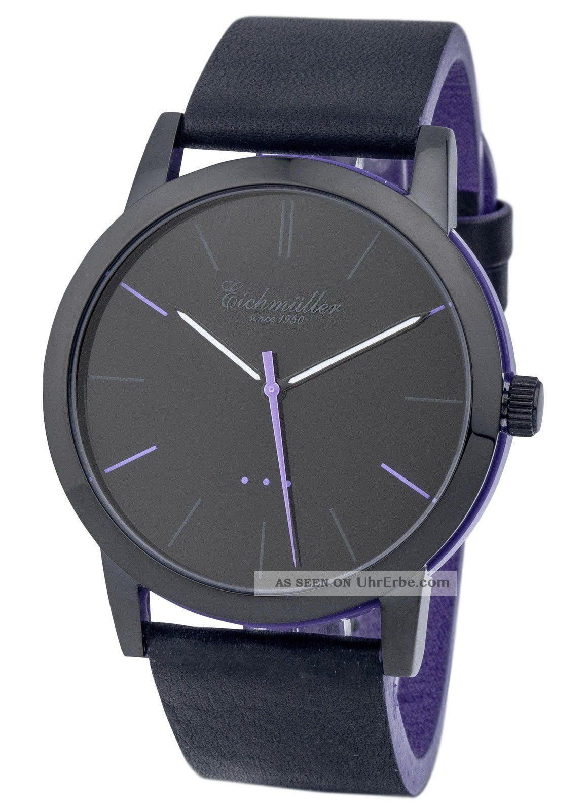 Modische EichmÜller 2 - Farben Design Uhr 4004 Herrenuhr Damenuhr Watch,  Lila Armbanduhren Bild