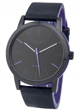 Modische EichmÜller 2 - Farben Design Uhr 4004 Herrenuhr Damenuhr Watch,  Lila Bild