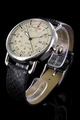 Elegante Armbanduhr Retro Unisex Uhr Animoo Herrenuhr Damenuhr Leder Datum M Box Bild