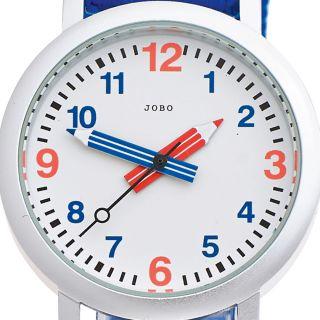 Jobo Kinderarmbanduhr Quarz Analog Edelstahlboden Stoffband Mineralglas Bild
