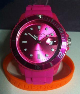 Armbanduhr Madison Candy Time York Pink In Beach Bag Bild