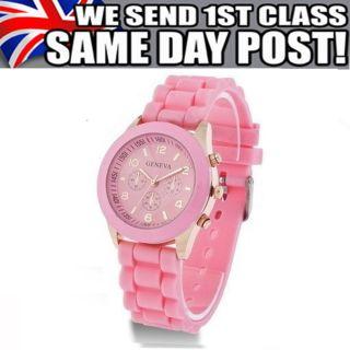 Jungen Mädchen Herren Damen Der Frau Damen Kinder Mans Genf Armbanduhr Uhren Bild