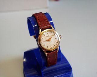Servicesierte Und Vergoldete - Zenith - Damen - Uhr Mit Mech Werk Bild