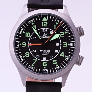 Poljot 2612/1223371 Fliegeruhr Mechanischer Wecker Russ Mechanical Aviator Watch Bild