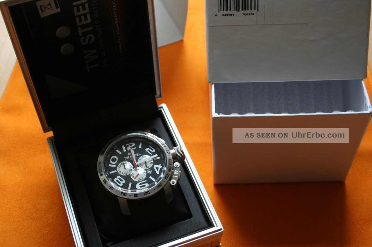 Tw - Steel 48mm Grandeur Tw41 Tw 41 Uhr Armbanduhr Chrono Chronograph Uhr Twsteel Armbanduhren Bild