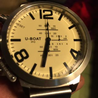 U - Boat Uboat A - 0153 Left Hook Beige Chrono Limited Edition 5000 53cm Chronograph Bild