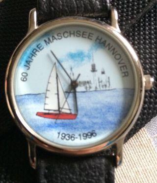 Scs International Armbanduhr Hannover Uhr Sammleruhr 60 J.  Maschsee 1936 - 1996 Bild
