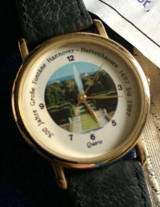 Scs International Armbanduhr Hannover Uhr Sammleruhr Herrenhäuser Gärten Fontäne Bild
