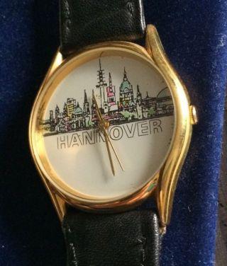 Scs International Armbanduhr Hannover Uhr Sammleruhr Skyline Funkturm Rathaus Bild