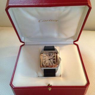 Orig.  Cartier Santos 100 Xl Wirklich Neuwertig Sammlerzustand Kaliber Ref 2656 Bild