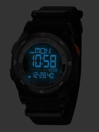 Khs Black Sentinel,  Alarm Chronograph,  Digital Kompass,  Natoband | Khs.  Sedcb.  Nb Bild