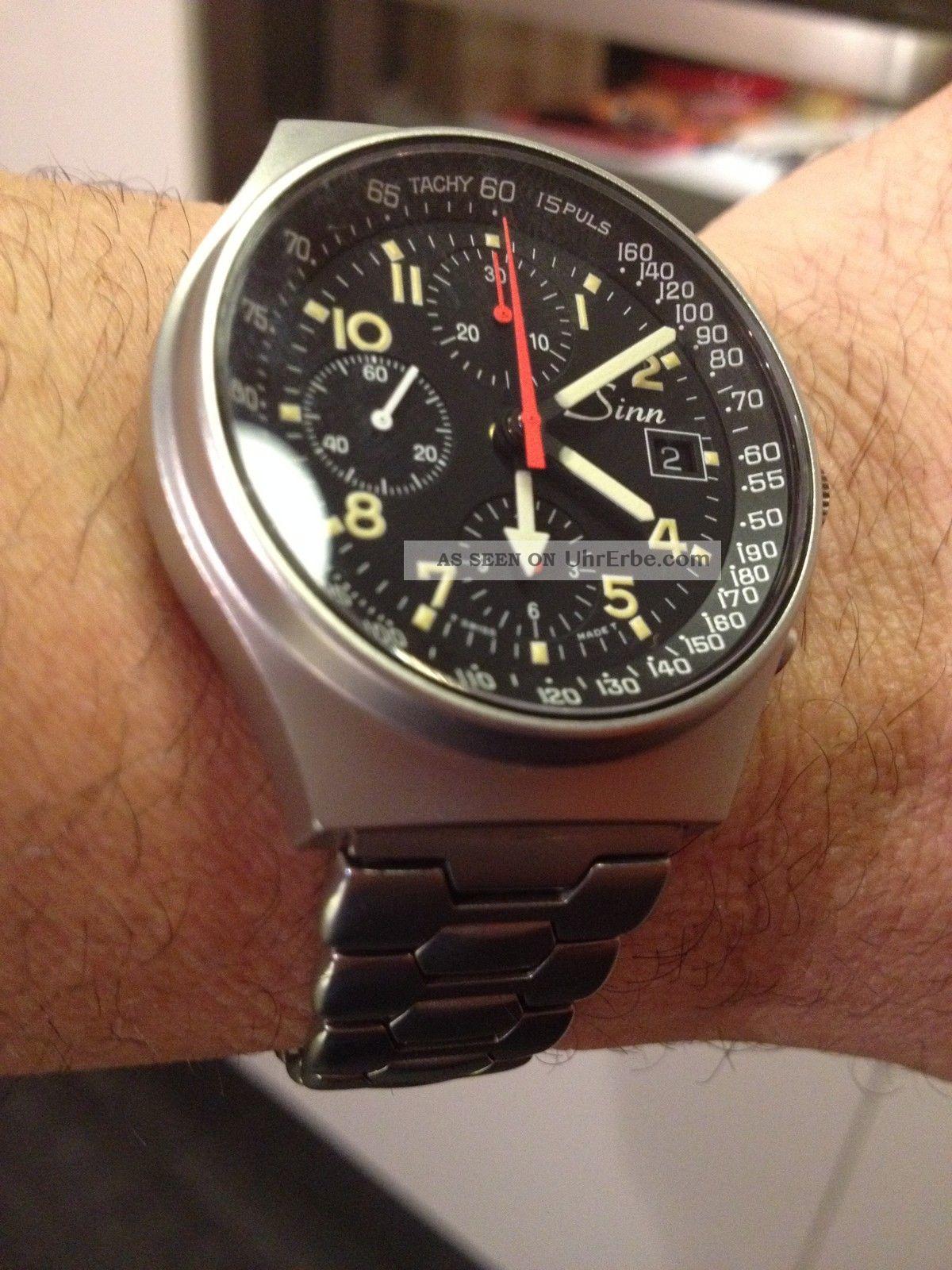 Sinn Frankfurth Gmt St Automatic Chronograph Nr3223681 Vintage Ungetragen Armbanduhren Bild