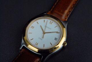 Tissot Prx P380 Herren Armbanduhr Uhr Saphirglas Leder Quartz Bild