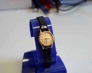 Neuw.  - Vergoldete - Zierliche - Omega De Ville - Damen - Uhr Mit Mech Werk Bild