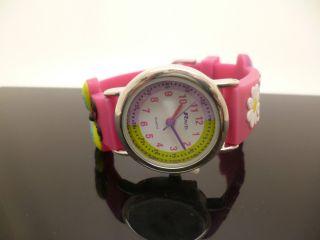 Zeitlehre Kinder Rosa Schmetterling Gummi Uhr Einstellbar Uhrenarmband Bild