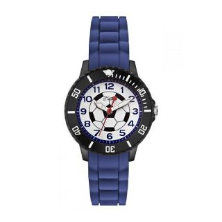 S.  Oliver Kids/kinder Uhr Armbanduhr Aus Silikon/blau/fussball So - 2589 - Pq Bild