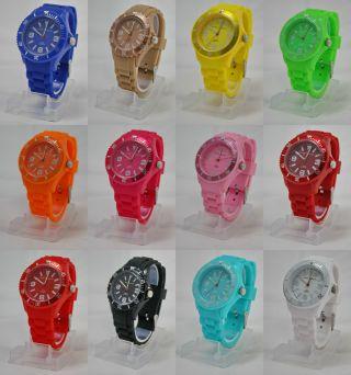 Silikon Armbanduhr Nele Fortados Colorful World Damen Herren Uhr 37mm Bild