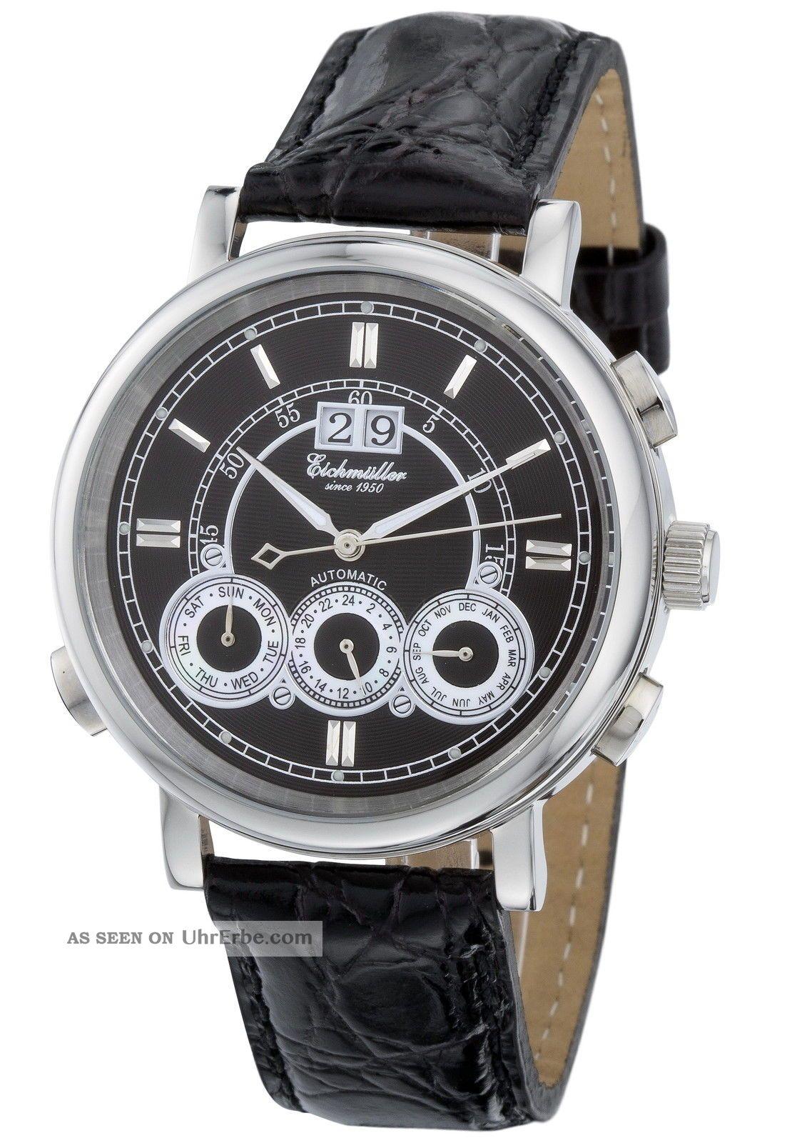 Exklusive EichmÜller Automatikuhr 7802 Herrenuhr Business Uhr Edelstahl M.  Box Armbanduhren Bild