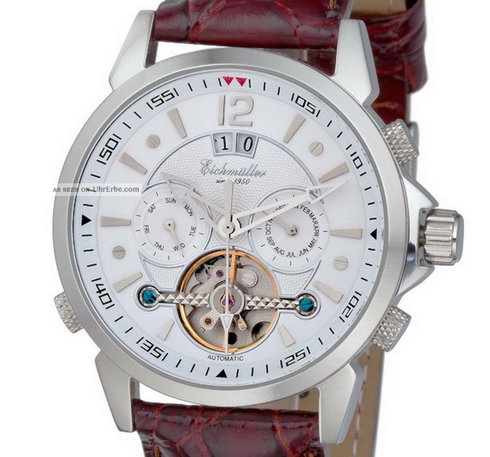 EichmÜller Automatikuhr Big Date 7855 Herrenuhr Business Uhr Edelstahl Ovp Armbanduhren Bild