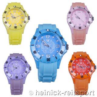 Hv Polo Uhr Fluoreszierend Glow In 5 Trendigen Farben Armbanduhr Watch Bild
