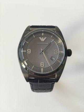 Emporio Armani Uhr Leder Ar1649 Watch Herren Armbanduhr Bild