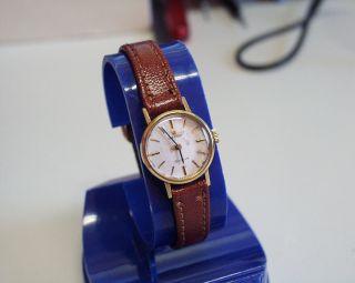 Servicesierte Und Vergoldete - Omega - Geneve - Damen - Uhr Mit Mech Werk Bild