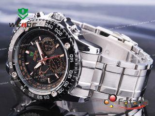 Fafada Weide Fashion Präzise Quarz Armbanduhr Herrenuhr Uhr Uhren Analog Schwarz Bild