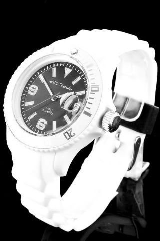 Nele Fortados Color World White Damen Herren Uhr Watch Weiß Silikon S/b/ib/l/g/w Bild
