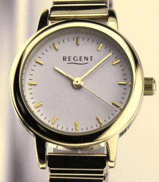 Armbanduhr Regent - Mineralglas - Mit Edelstahl Zugband - Vergoldet Bild