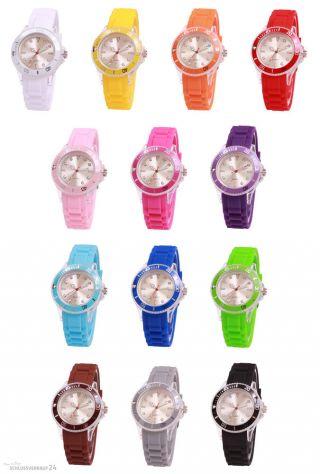 Sv24 Watch Silikon Uhr Armbanduhr Damen Herren Kinder Uhren Sport Trend Farbwahl Bild