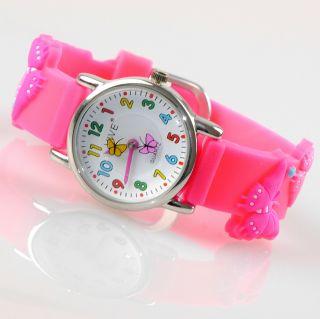 Kinder Mädchen Vive Lernuhr Armband Uhr Silikon Watch Analog Pink Rosa 48 Bild