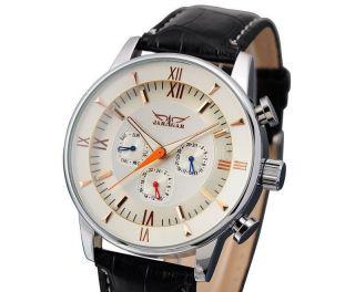 Jaragar Deluxe Herrenuhr Mit Box,  Mechanisch,  Automatisch Leder Armband Uhr Bild