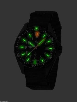 Khs Missiontimer 3 Field,  Natoband Black,  Khs Uhren,  H3 Militäruhren,  Army Watch Bild