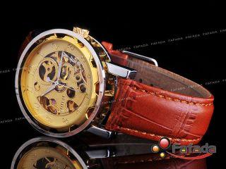 Fafada Goer Fashion Automatik Mechanisch Armbanduhr Herrenuhr Uhr Uhren Golden Bild