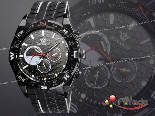 Fafada Ouyawei Mechanisch Automatik Armbanduhr Herrenuhr Armband Uhr Schwarz Bild