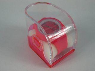 Silikonuhr Silikon Armbanduhr Round & Square Pink In Pvc Box Uhr Unisex Bild