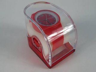 Silikonuhr Silikon Armbanduhr Round & Square Rot In Pvc Box Uhr Unisex Bild