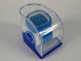 Silikonuhr Silikon Armbanduhr Round & Square Dunkelblau Pvc Box Uhr Unisex Bild