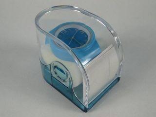 Silikonuhr Silikon Armbanduhr Round & Square Hellblau In Pvc Box Uhr Unisex Bild