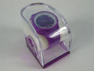 Silikonuhr Silikon Armbanduhr Round & Square Lila In Pvc Box Uhr Unisex Bild