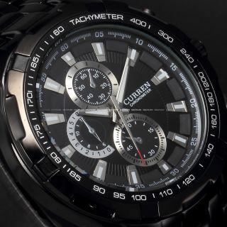 Curren Mode Herrenuhr Edelstahl Armbanduhr Uhr Analog Quarzuhr 10 Farben Bild