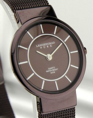 Armbanduhr Längengrad Pure - Mineralglas - Mit Millaneseband Bild