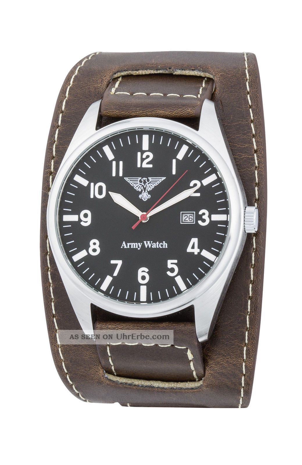 Schicke Eichmüller Army Watch German Air Force Xl 45mm Braunes Unterlegeband Armbanduhren Bild